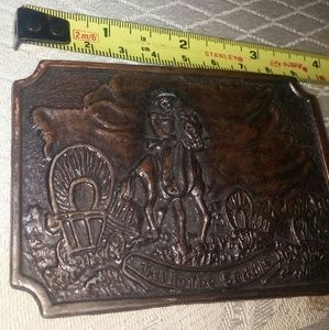 Vintage Copper Tone Western Belt Buckle